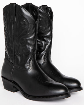 Cody James Men's Classic Black Embroidered Western Boots - Medium Toe, Black, hi-res