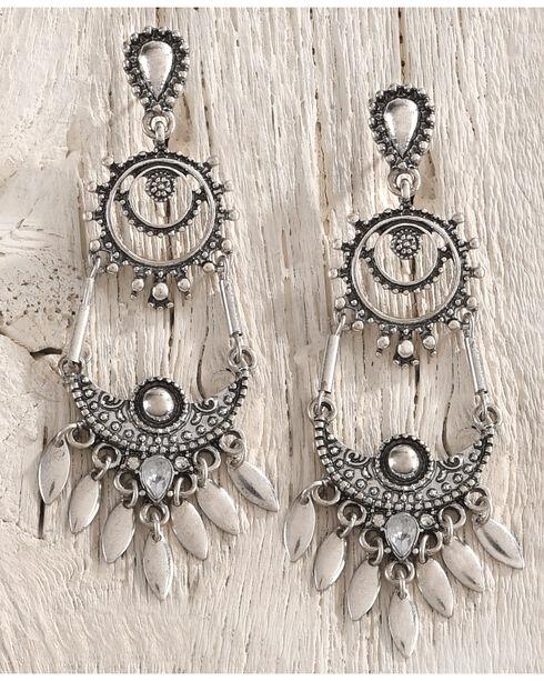 Shyanne Women's Antique Silver Chandelier Earrings, Silver, hi-res