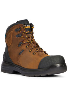 Ariat Men's Outlaw Work Boots - Carbon Toe, Dark Brown, hi-res
