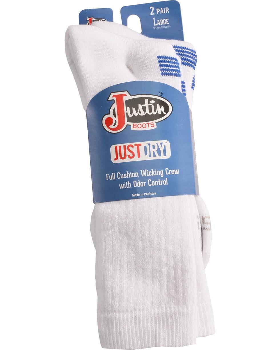 Justin Boots Men's JUSTDRY Socks - White, White, hi-res