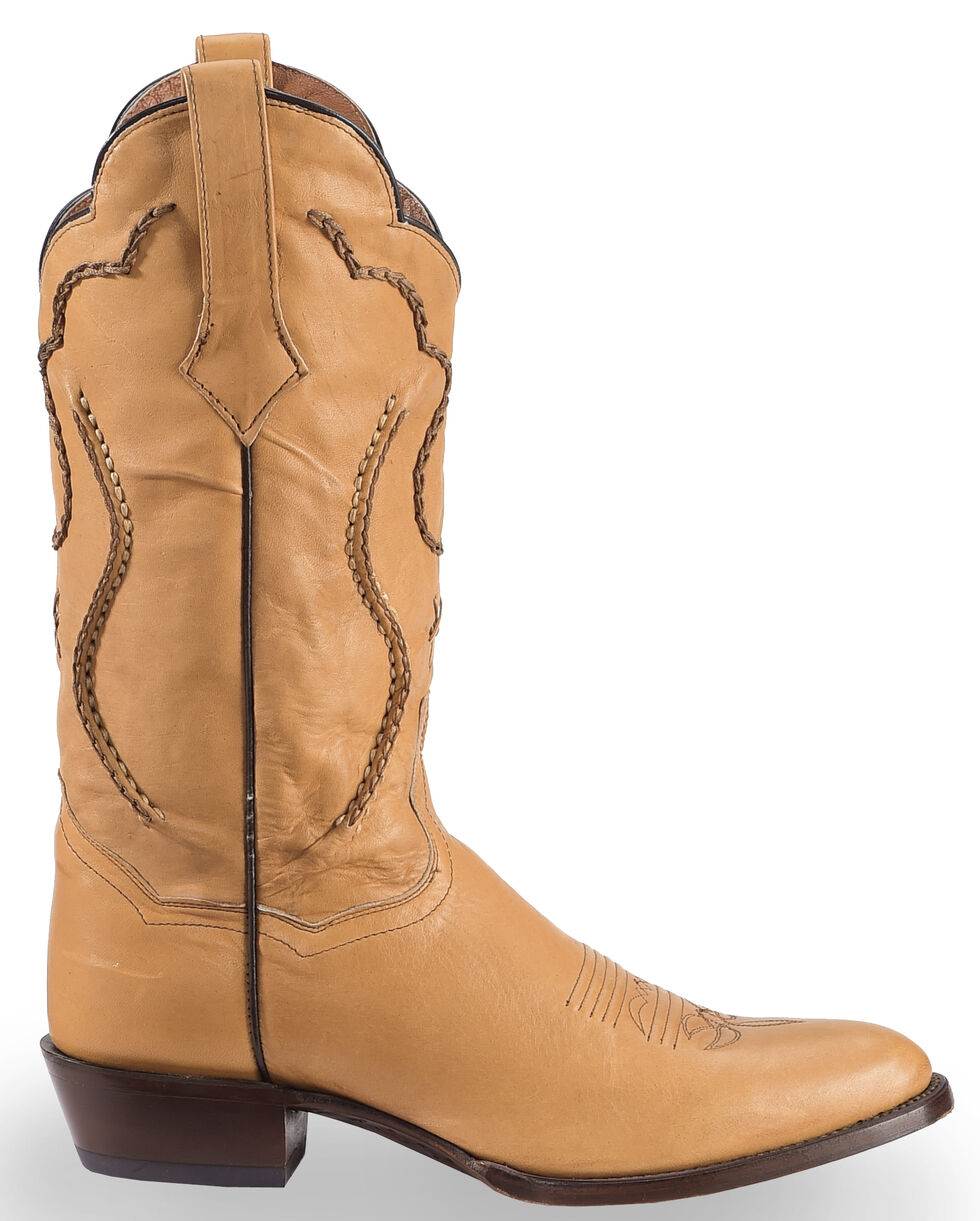 Dan Post Saddle Brand Leather Corded Western Boots, Camel, hi-res