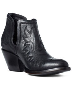 Ariat Women's Brooklyn Fashion Booties - Round Toe, Black, hi-res