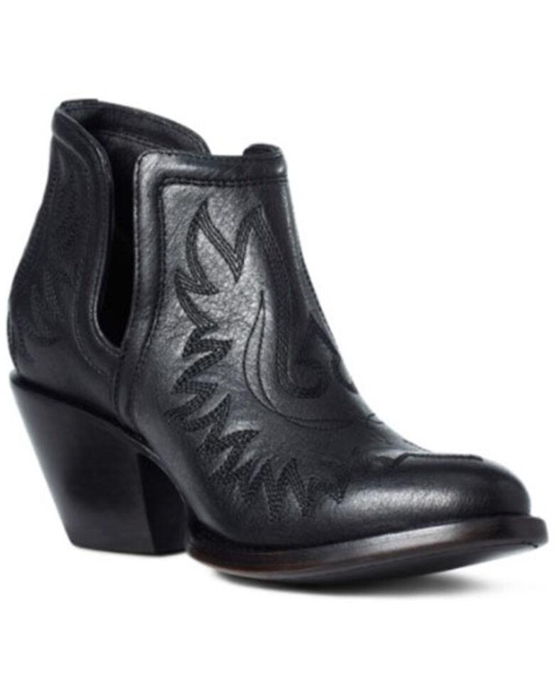 Ariat Women's Brooklyn Fashion Booties - Round Toe, Black, hi-res