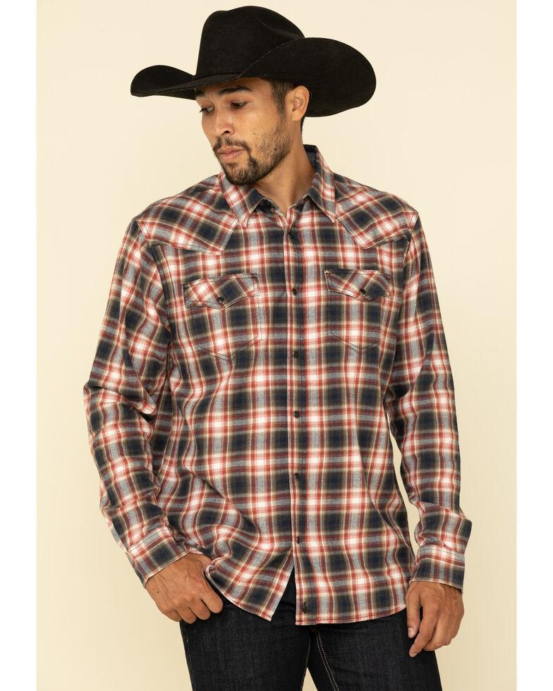 Cody James Men's Spruce Plaid Long Sleeve Western Flannel Shirt - Big , Black/red, hi-res