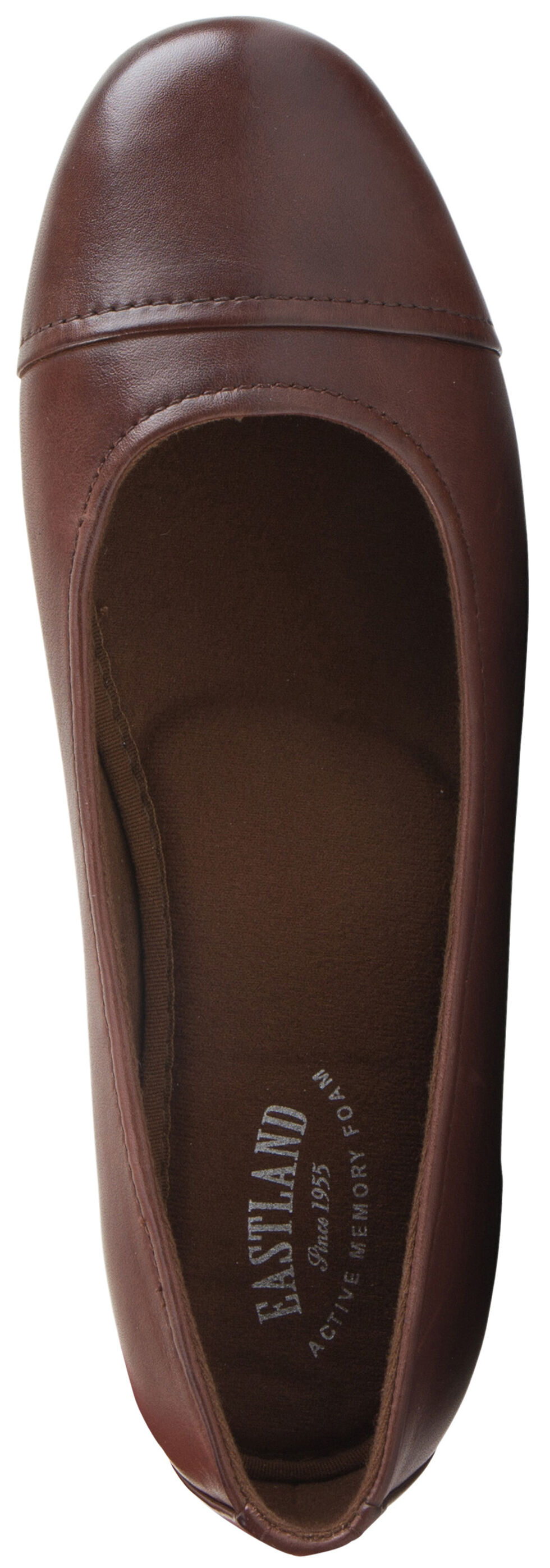 Eastland Women's Walnut Brown Gia Cap Toe Ballet Flats , , hi-res