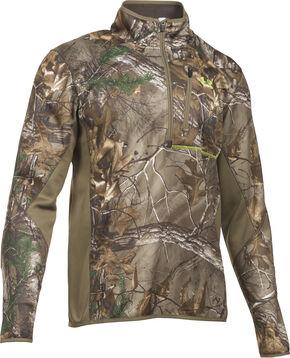 Under Armour Scent Control Armour Fleece 2.0 1/4 Zip Jacket, Camouflage, hi-res
