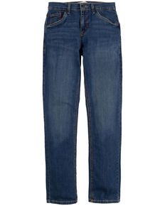 Levi's Boys' 511 Evans Faded Blue Slim Straight Jeans , Dark Blue, hi-res