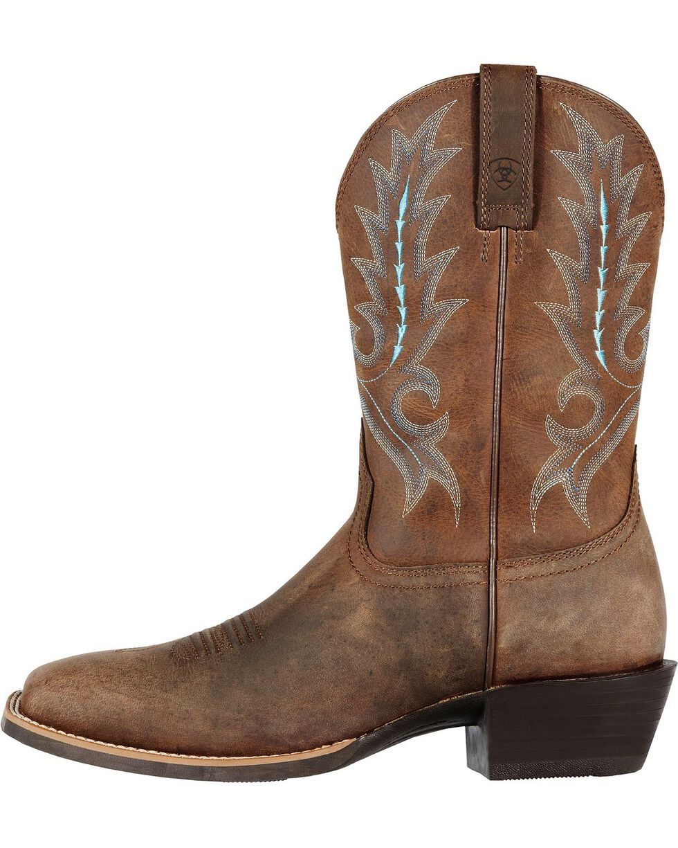 Ariat Sport Outfitter Cowboy Boots - Square Toe, Distressed, hi-res