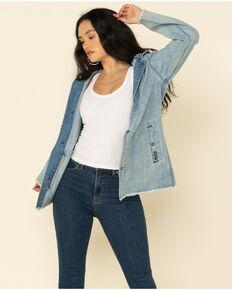 STS Ranchwear Women's Shari Dale Hooded Denim Jacket , Blue, hi-res