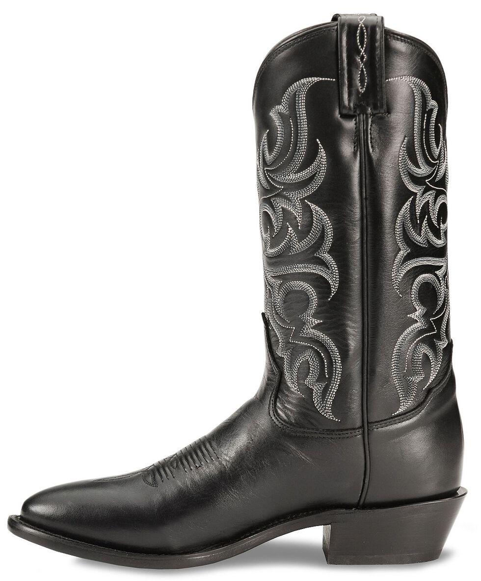 Tony Lama Regal Americana Boots - Medium Toe, Black, hi-res