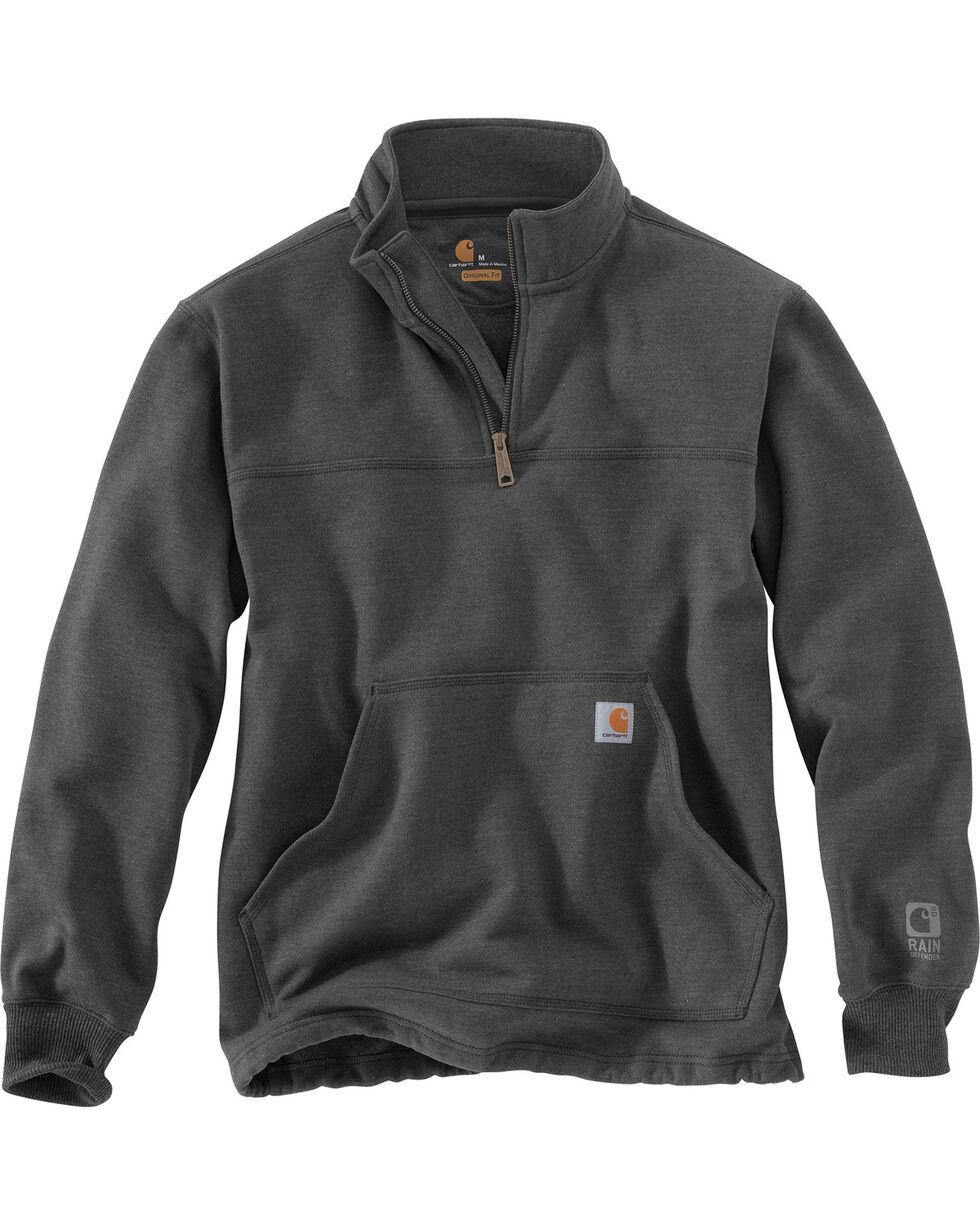 Carhartt Men's Rain Defender Paxton Quarter Zip Sweatshirt, Hthr Grey, hi-res