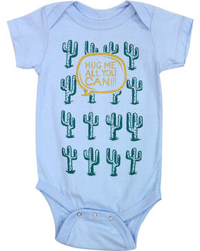 Cody James Infant Boys' Hug Me Cactus Onesie, Blue, hi-res