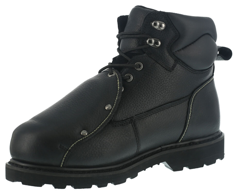 Iron Age Men's Ground Breaker Met Guard Work Boots - Steel Toe, Black, hi-res