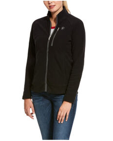 Ariat Women's Black Basis 2.0 Full Zip Jacket , Black, hi-res