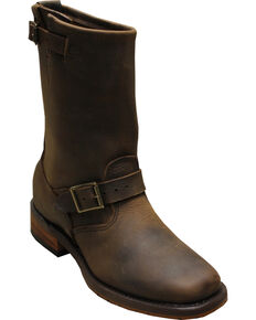 """Sage by Abilene Men's 11"""" Engineer Boots - Square Toe, Brown, hi-res"""