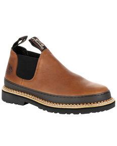 Georgia Boot Men's Revamp Work Shoes - Steel Toe, Brown, hi-res
