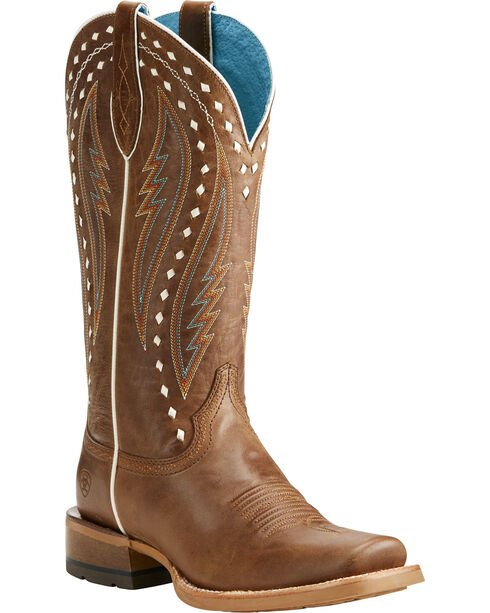 Ariat Women's Callahan Brown Cowgirl Boots - Square Toe, Brown, hi-res
