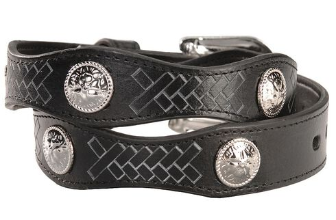 Exclusive GibsonTrading Co. Kids' Scallop Belt with Conchos, Black, hi-res