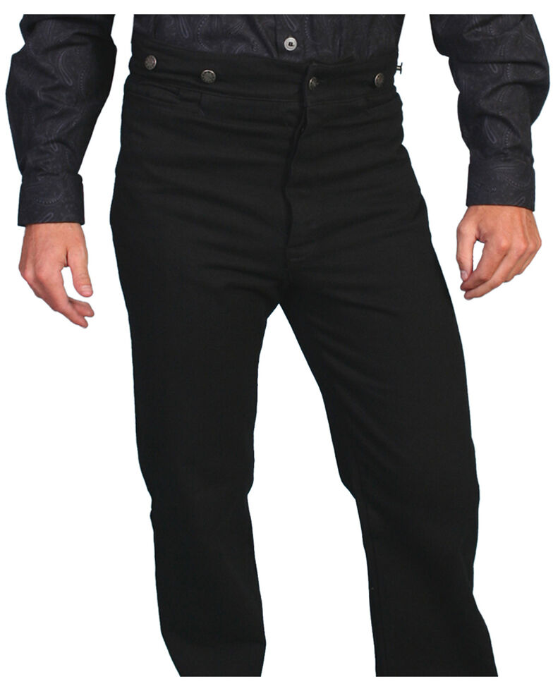 Wahmaker by Scully Canvas Saddle Seat Pants, Black, hi-res
