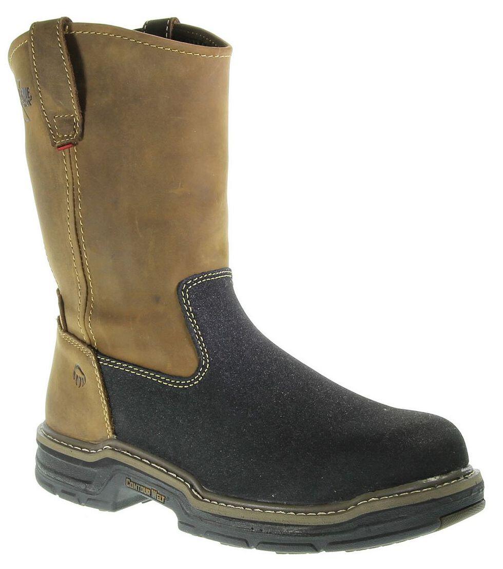 Wolverine Corsair Waterproof Pull-On Work Boots - Composite Toe, Brown, hi-res