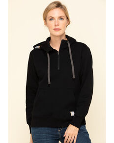 Ariat Women's Black Rebar Skill Set Zip Hoodie, Black, hi-res
