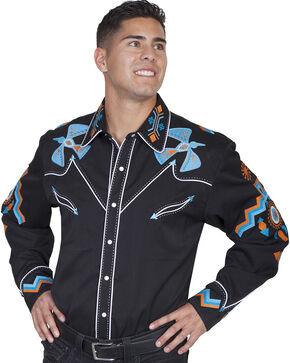Scully Western Phoenix Shirt, Black, hi-res