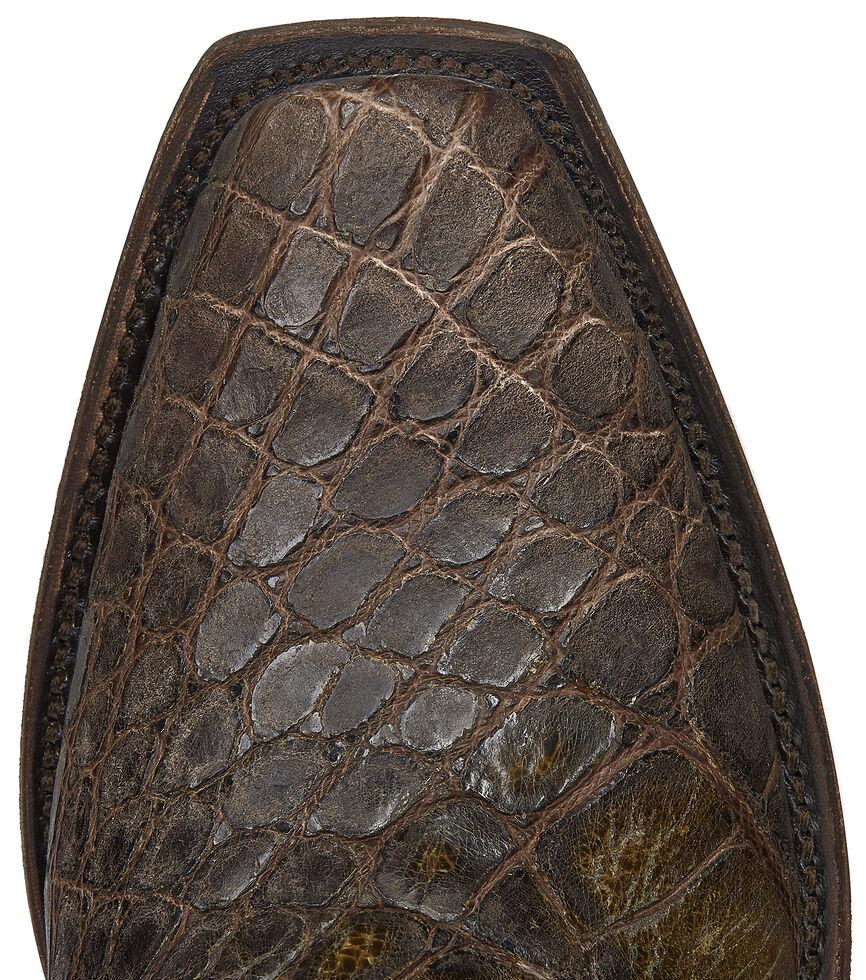 Lucchese Handmade Chocolate Giant Gator Van Cowboy Boots - Snip Toe, Chocolate, hi-res