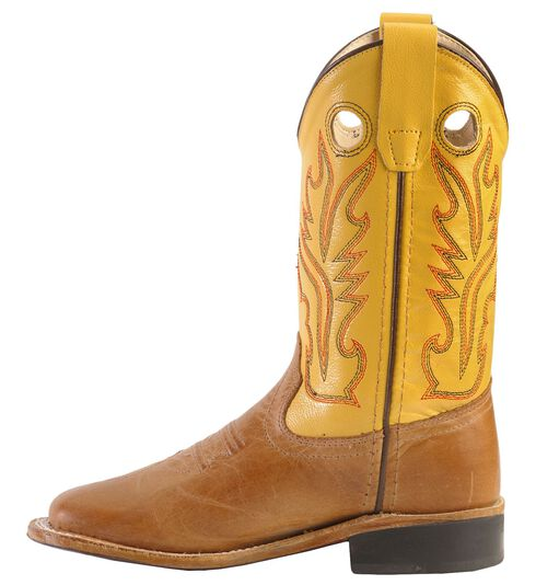 Old West Boys' Tan Canyon Cowboy Boots - Square Toe, Tan, hi-res