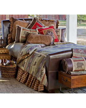 Carstens Heartland Queen Bedding - 5 Piece Set, Green, hi-res