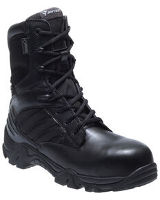 Bates Men's GX-8 Waterproof Work Boots - Composite Toe, Black, hi-res