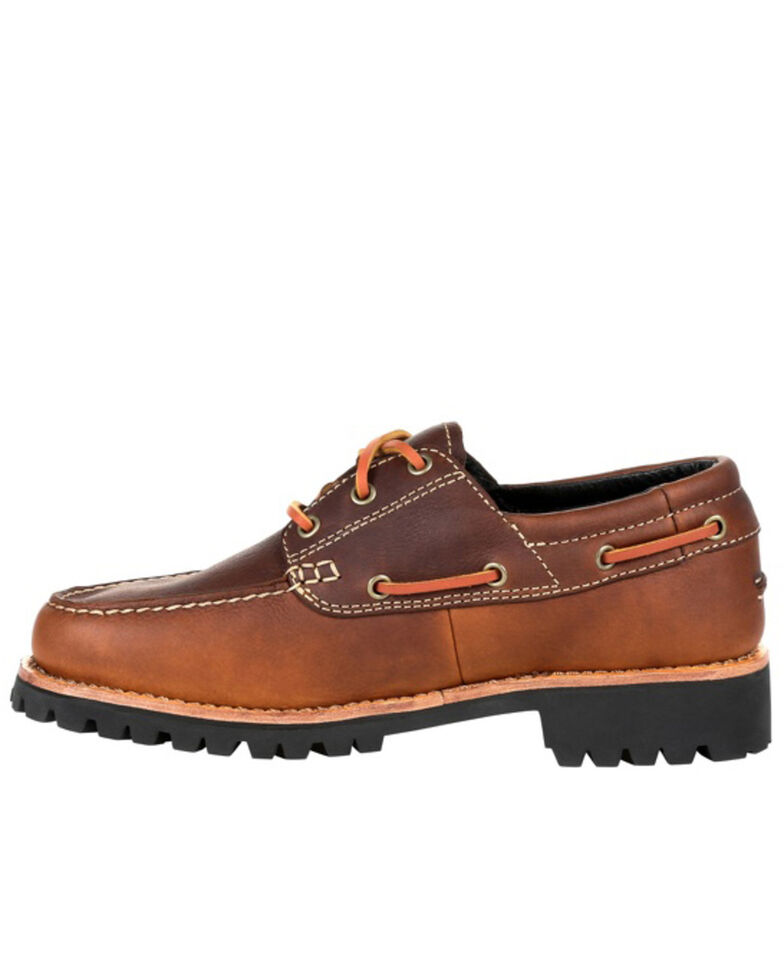 Rocky Men's Collection 32 Small batch Oxford Shoes - Moc Toe, Brown, hi-res