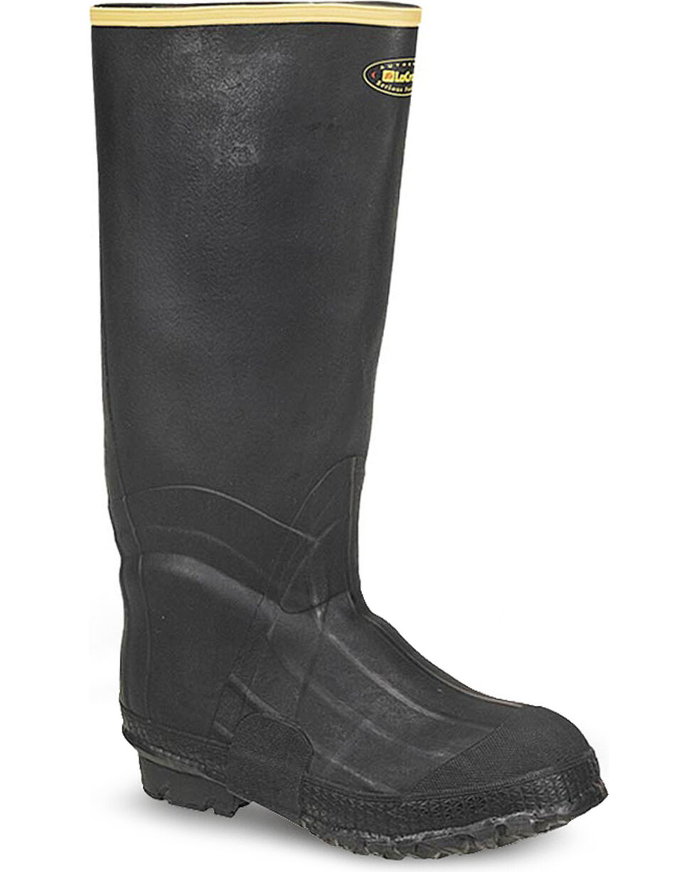 LaCrosse Men's Zxt Knee Work Boots - Round Toe , Black, hi-res