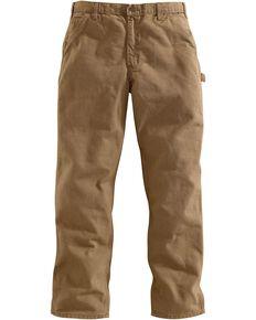 Carhartt Desert Washed Duck Dungaree Work Pants, Desert, hi-res