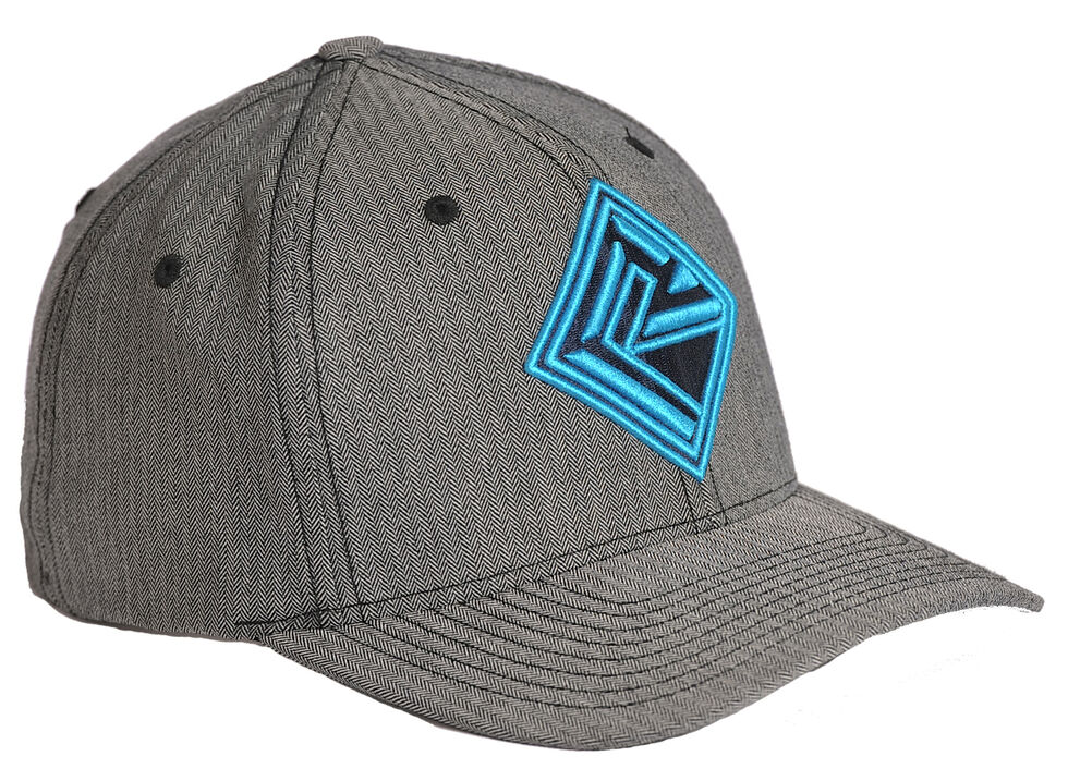 Rock and Roll Cowboy Grey Herringbone Twill Cap , Grey, hi-res