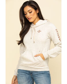 Shyanne Life Women's Solid Logo Hoodie , Oatmeal, hi-res
