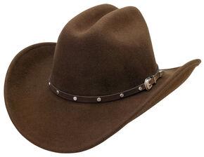Silverado Men's Crushable Wool Cattleman Crown Hat, Brown, hi-res