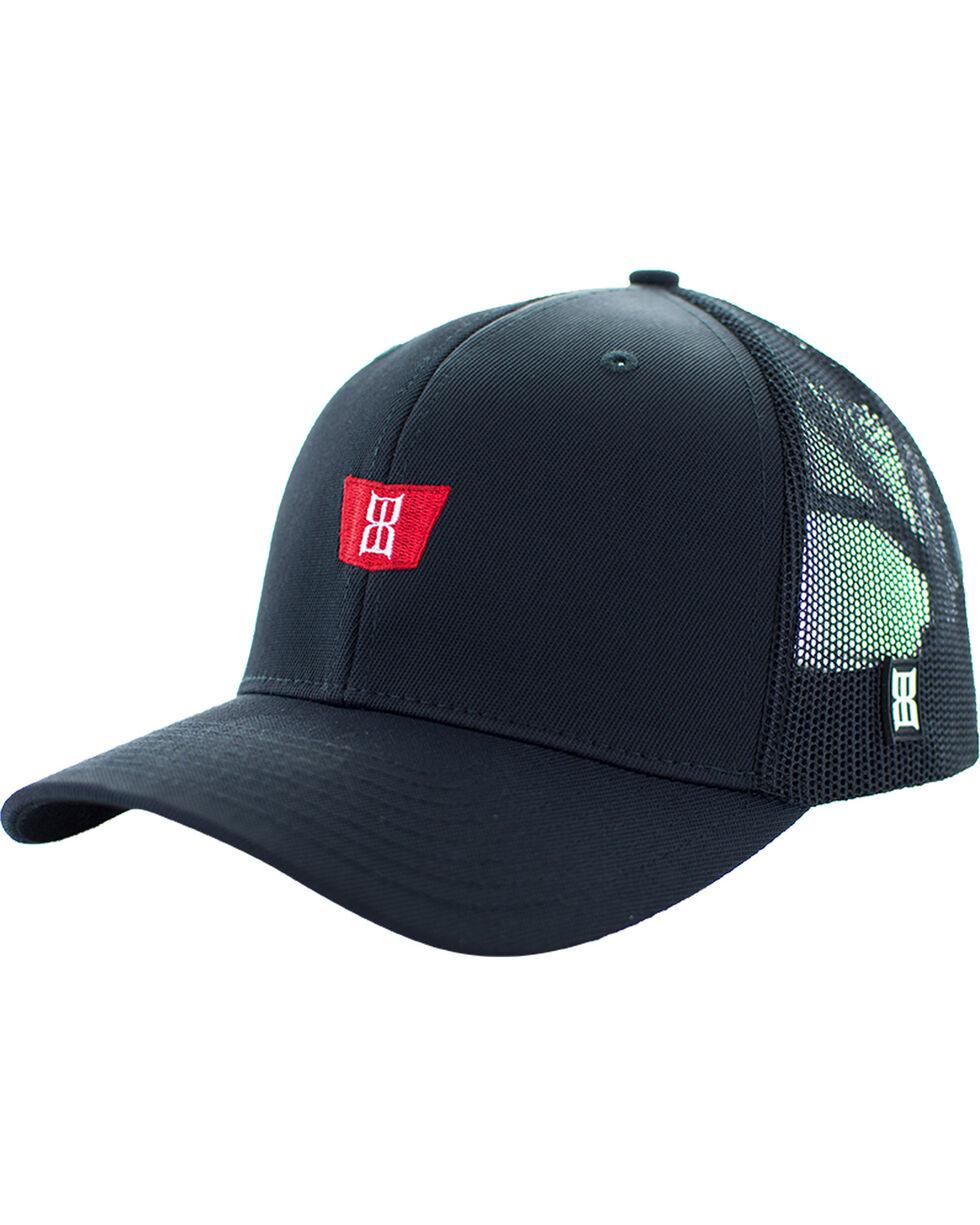 BEX Men's Flyk Embroidered Logo Mesh Adjustable Cap, Black, hi-res