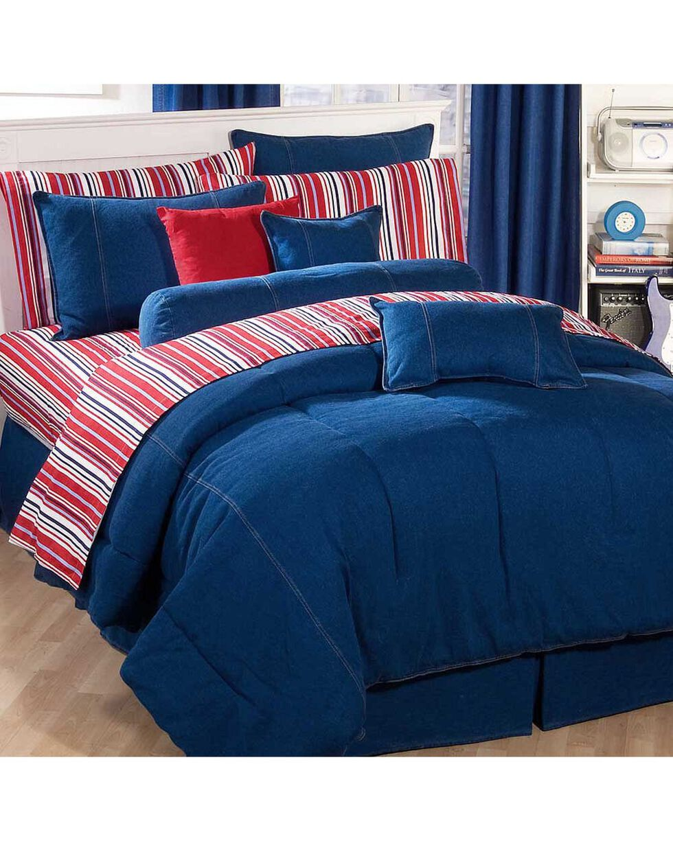 Karin Maki Denim Twin Comforter, Denim, hi-res