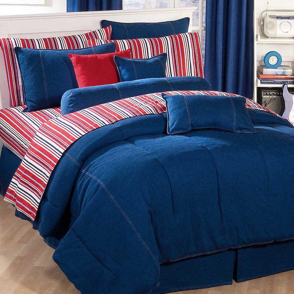 Karin Maki Denim California King Comforter, Denim, hi-res