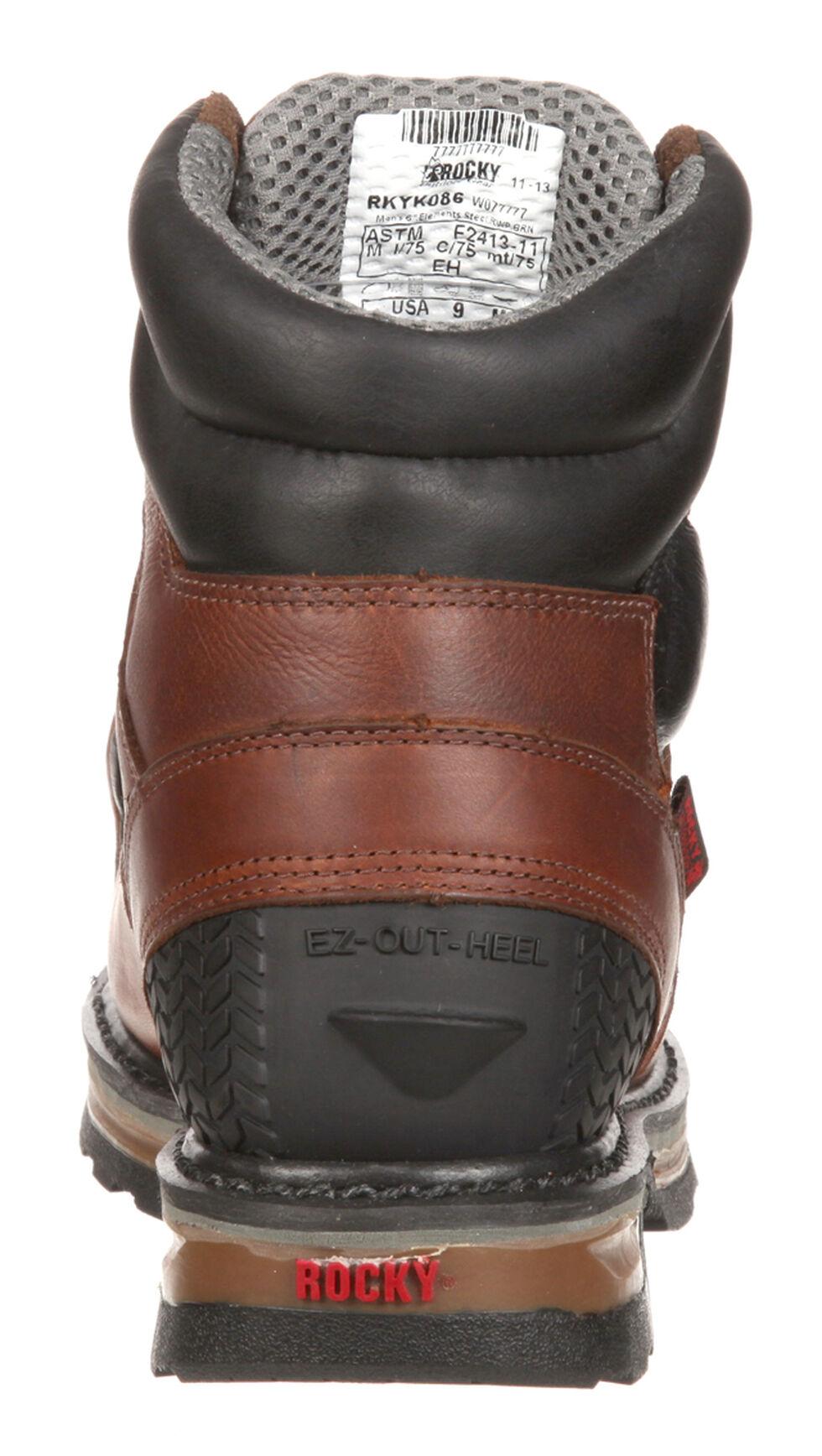 Rocky Elements Steel Waterproof Met Guard Work Boots - Safety Toe, Brown, hi-res