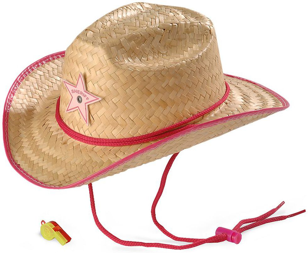 d04cd618705 Toddler Girl Straw Cowboy Hat - Parchment N Lead