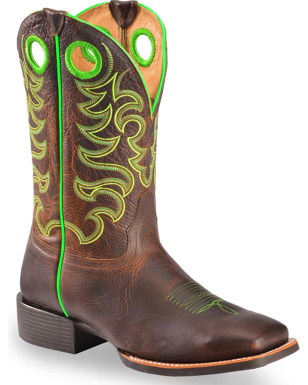 Cody James Xero Gravity Men's Haywood Neon Green Western Boots - Square Toe, , hi-res
