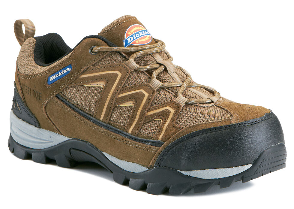 Dickies Men's EH Solo Shoes - Steel Toe, Brown, hi-res