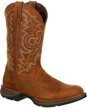 Durango Rebel Men's Brown Waterproof Western Boots - Round Toe , Brown, hi-res
