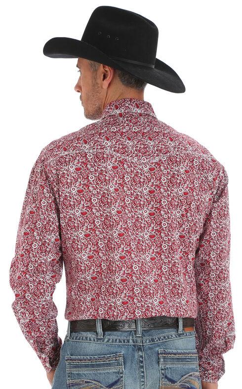 Wrangler Men's 20X Advanced Comfort Paisley Print Shirt - Big and Tall, Red, hi-res