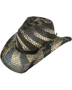 a5e2fb4ebcb Peter Grimm Womens Black Striped Straw Hat