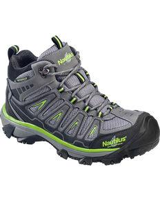 Nautilus Men's Lightweight Waterproof HIker Work Boots - Steel Toe , Grey, hi-res