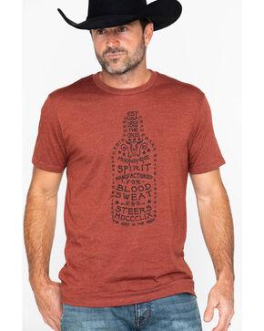 Moonshine Spirit Men's Pour It Slow Print T-Shirt , Chilli, hi-res