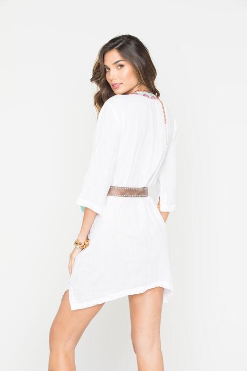 Johnny Was Women's White Murray Short Kaftan Dress, White, hi-res