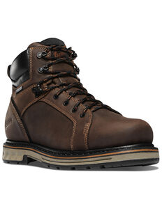 Danner Men's Steel Yard Work Boots - Steel Toe, Brown, hi-res